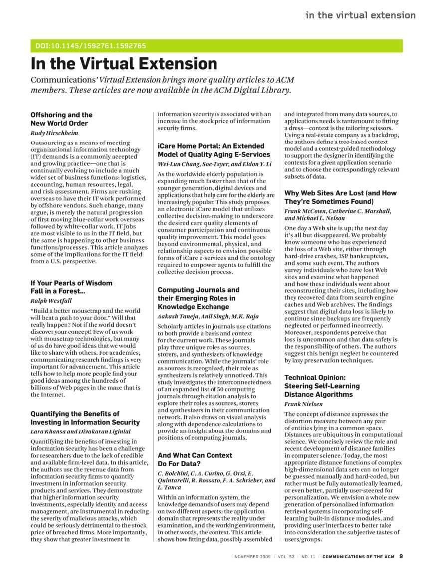 Communications - November 2009 - page 10