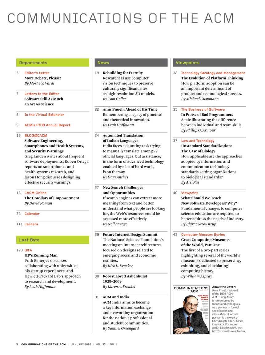 Communications - January 2010 - page 2