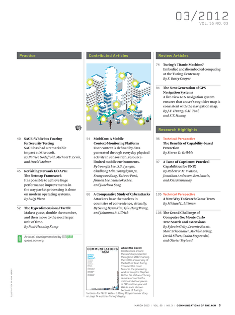 Communications - March 2012 - Page CII-1