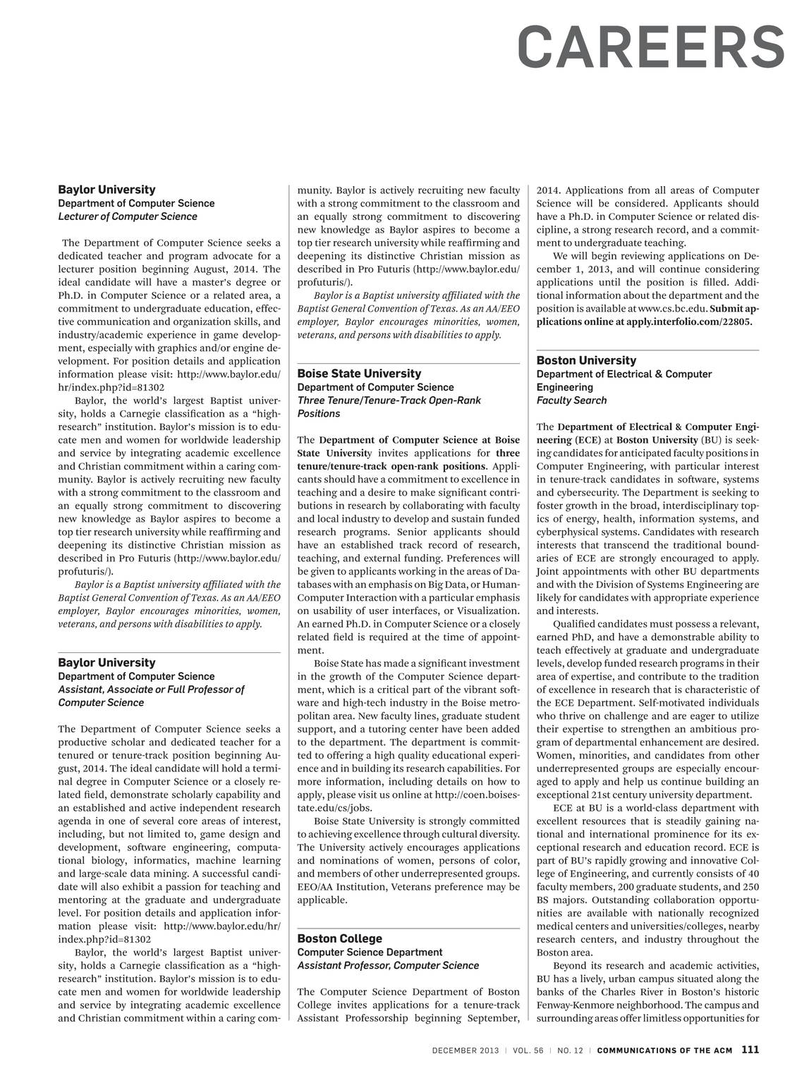 Communications of the ACM - December 2013 - page 111