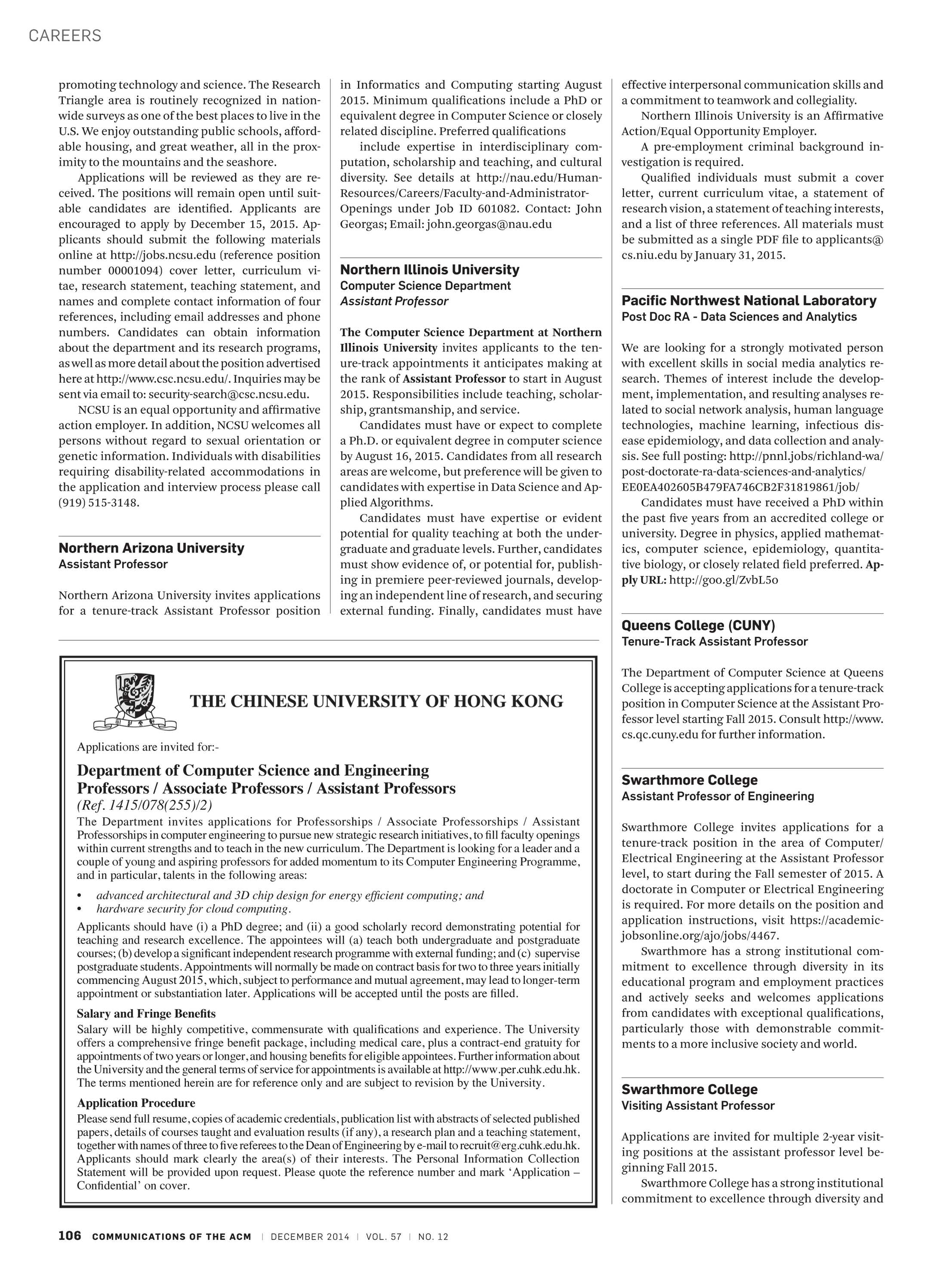 Communications of the ACM - December 2014 - page 106