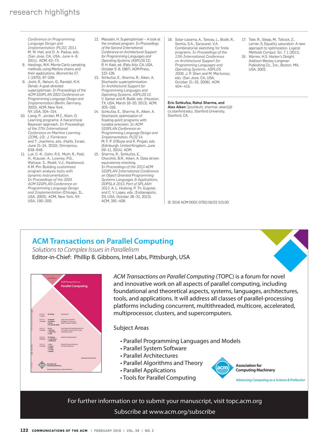 Communications of the ACM - February 2016 - page 122