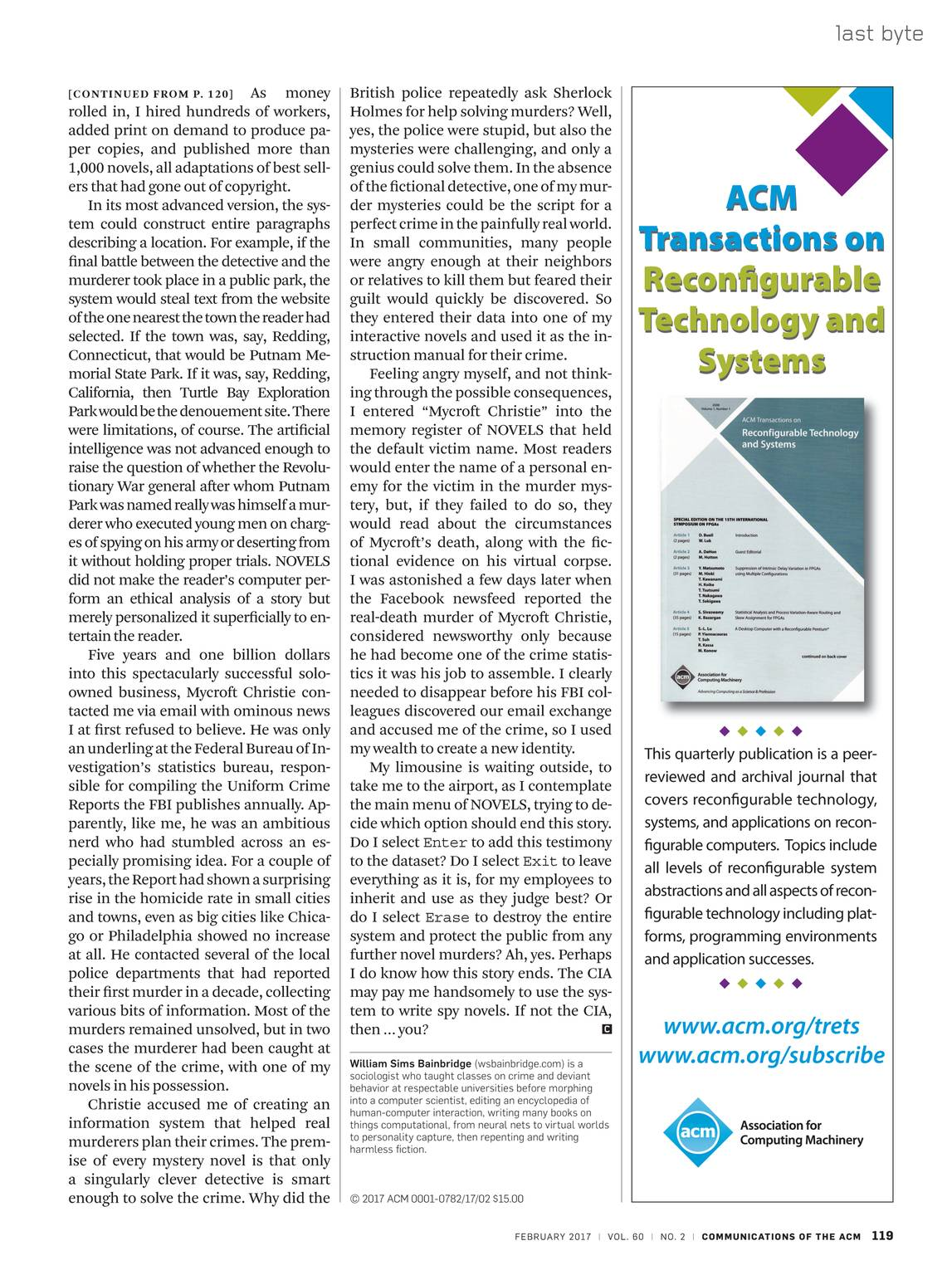 Communications of the ACM - February 2017 - page 119