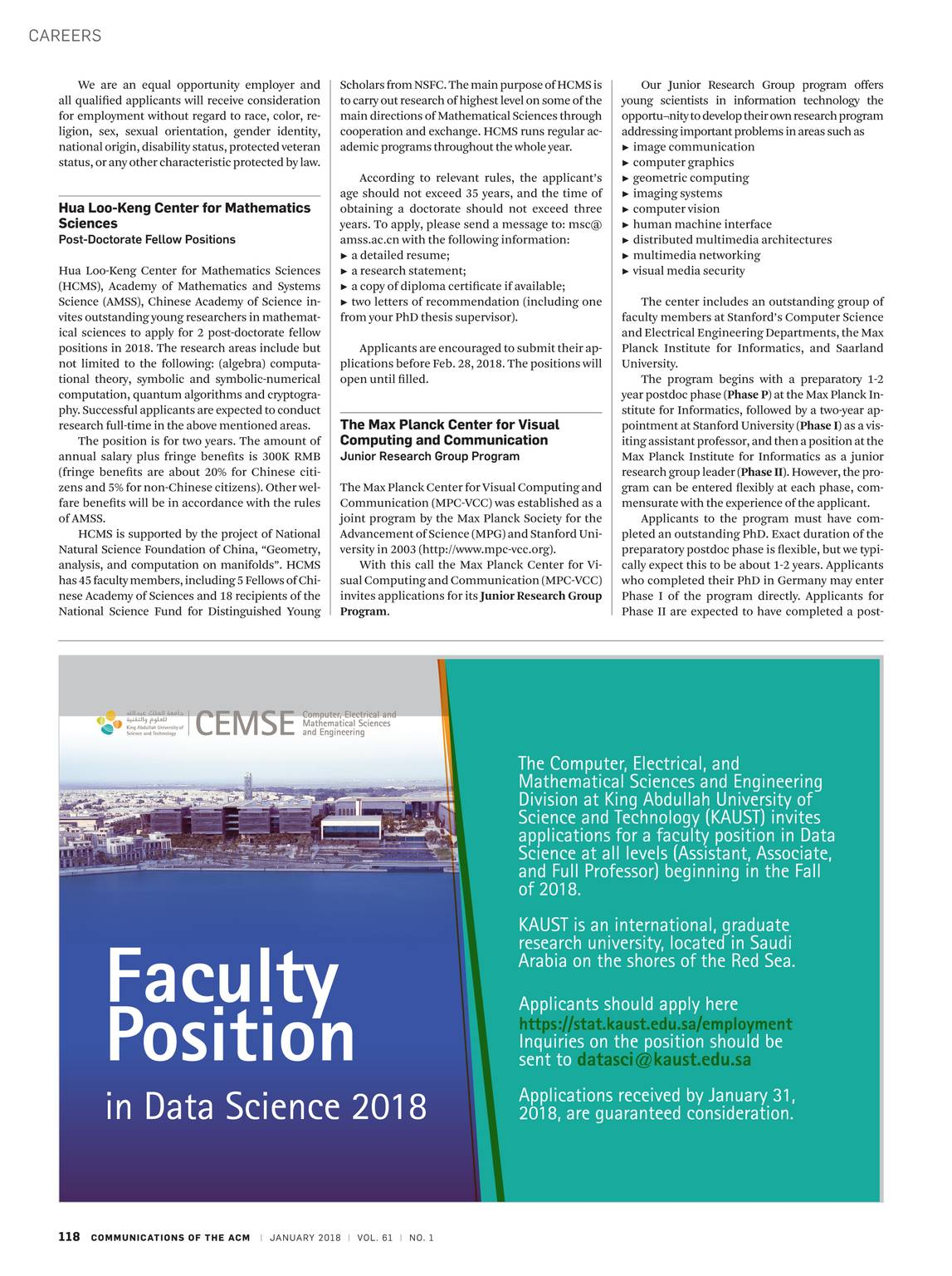 Communications of the ACM - January 2018 - page 119