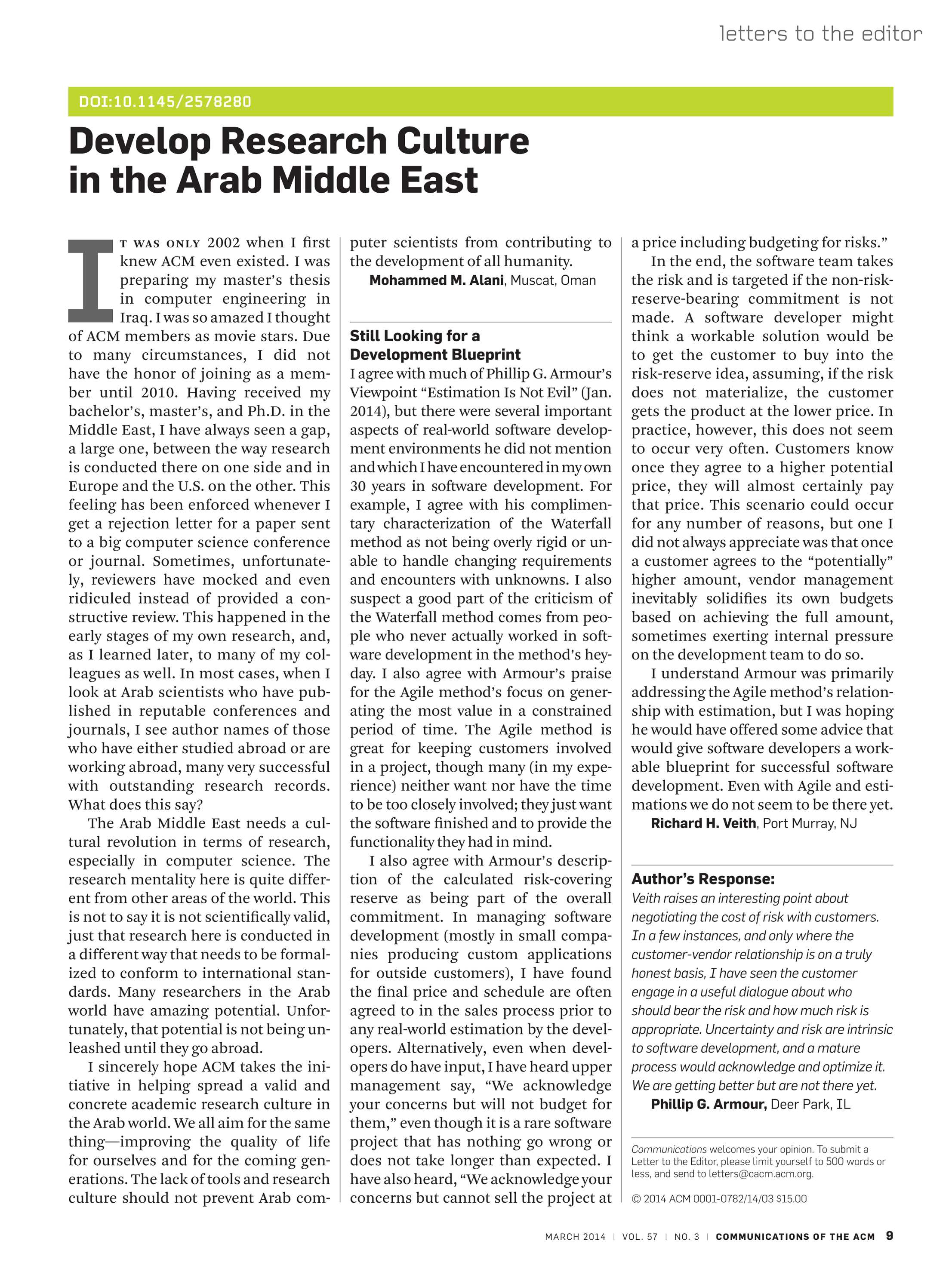 Communications of the ACM - March 2014 - page 9