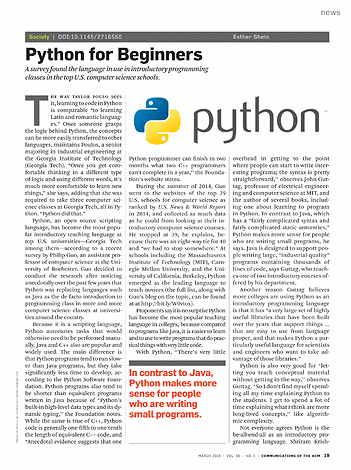 Communications of the ACM - March 2015 - page 19
