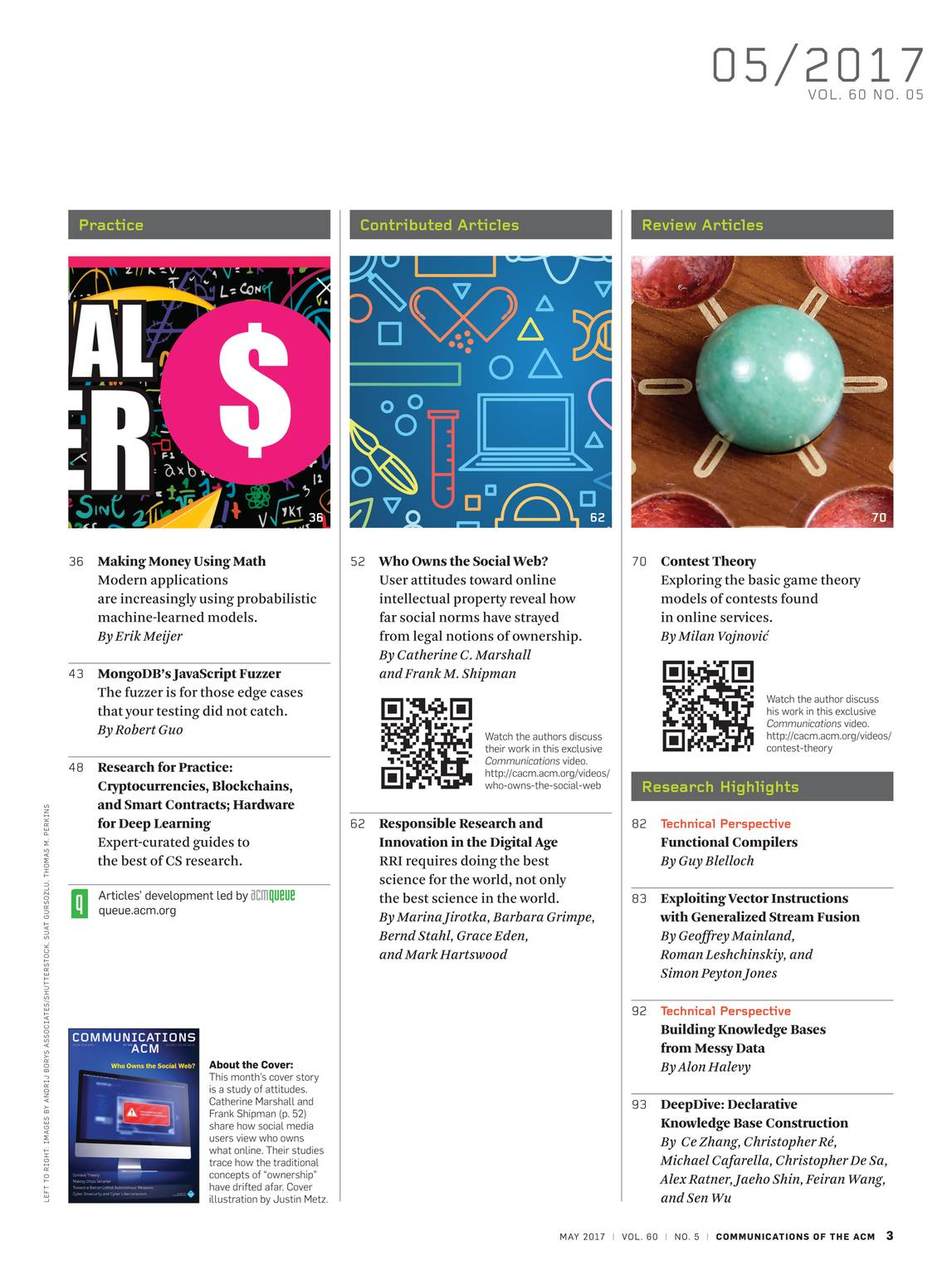 Communications of the ACM - May 2017 - page 2