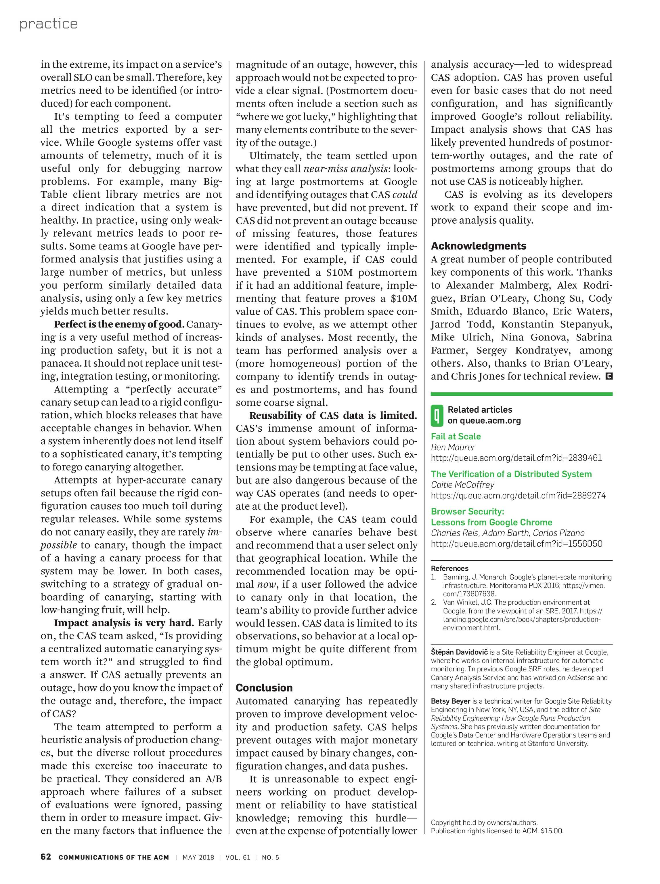 Communications of the ACM - May 2018 - page 62