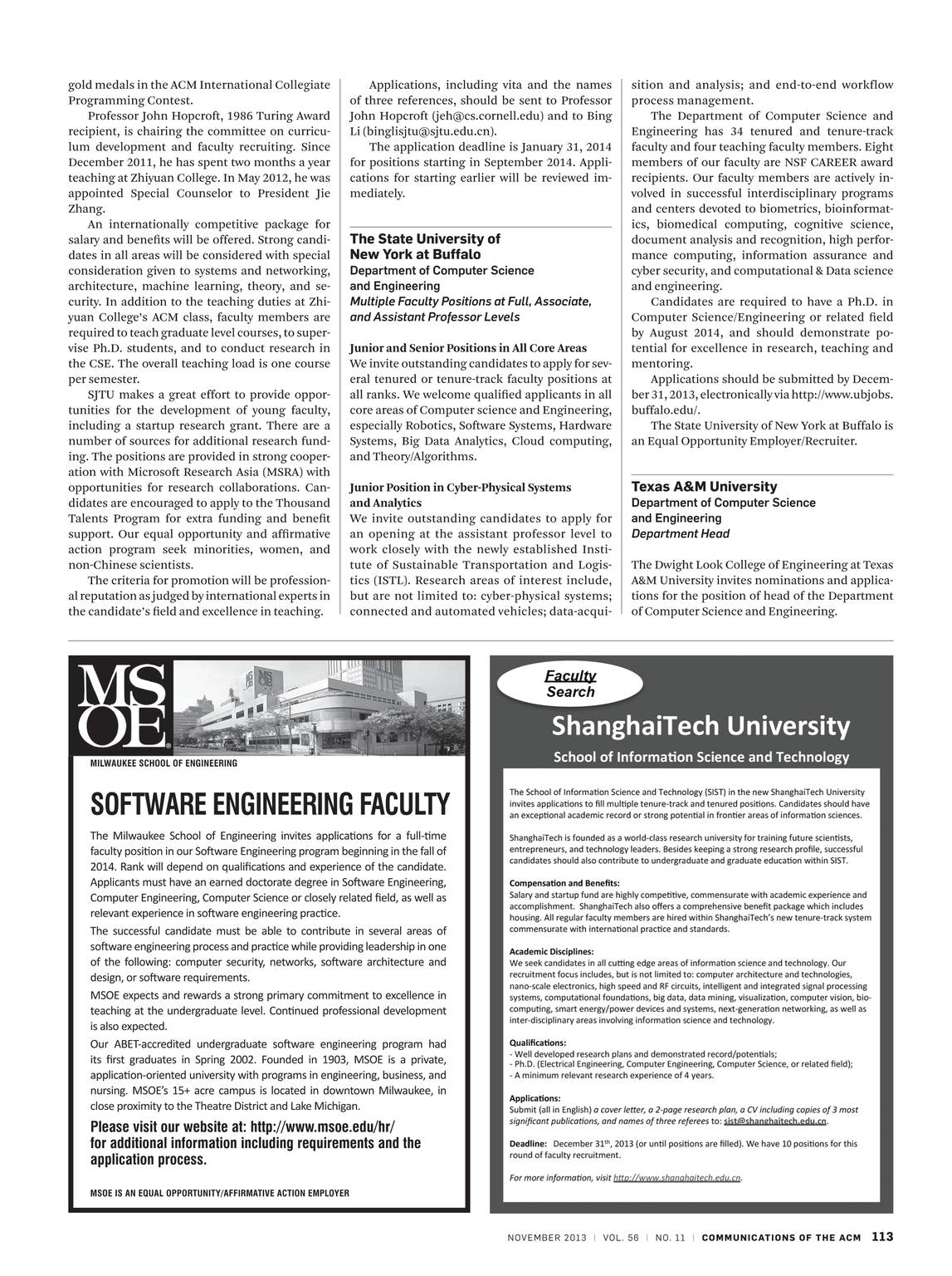 Communications of the ACM - November 2013 - page 113