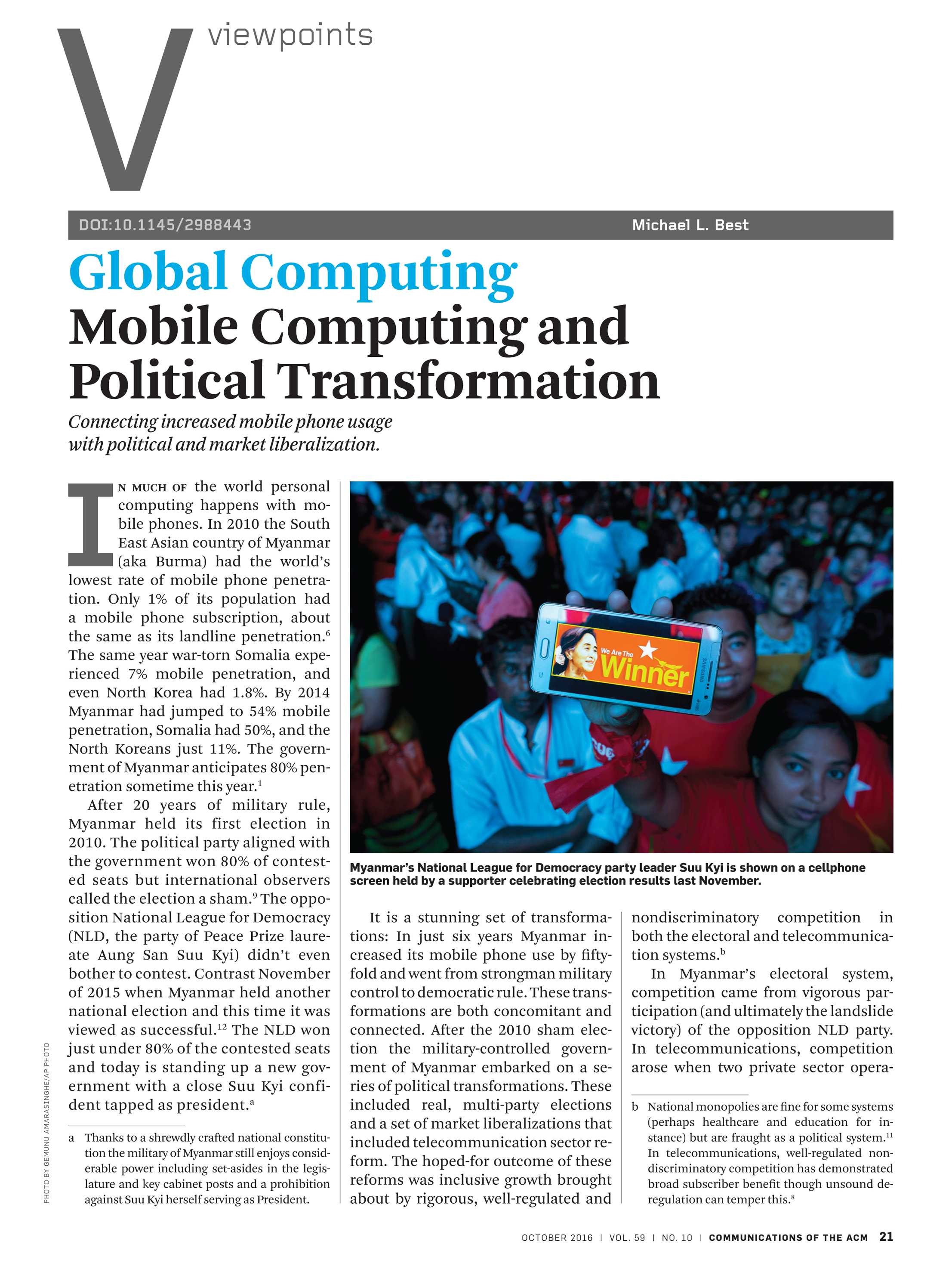 Communications of the ACM - October 2016 - page 21