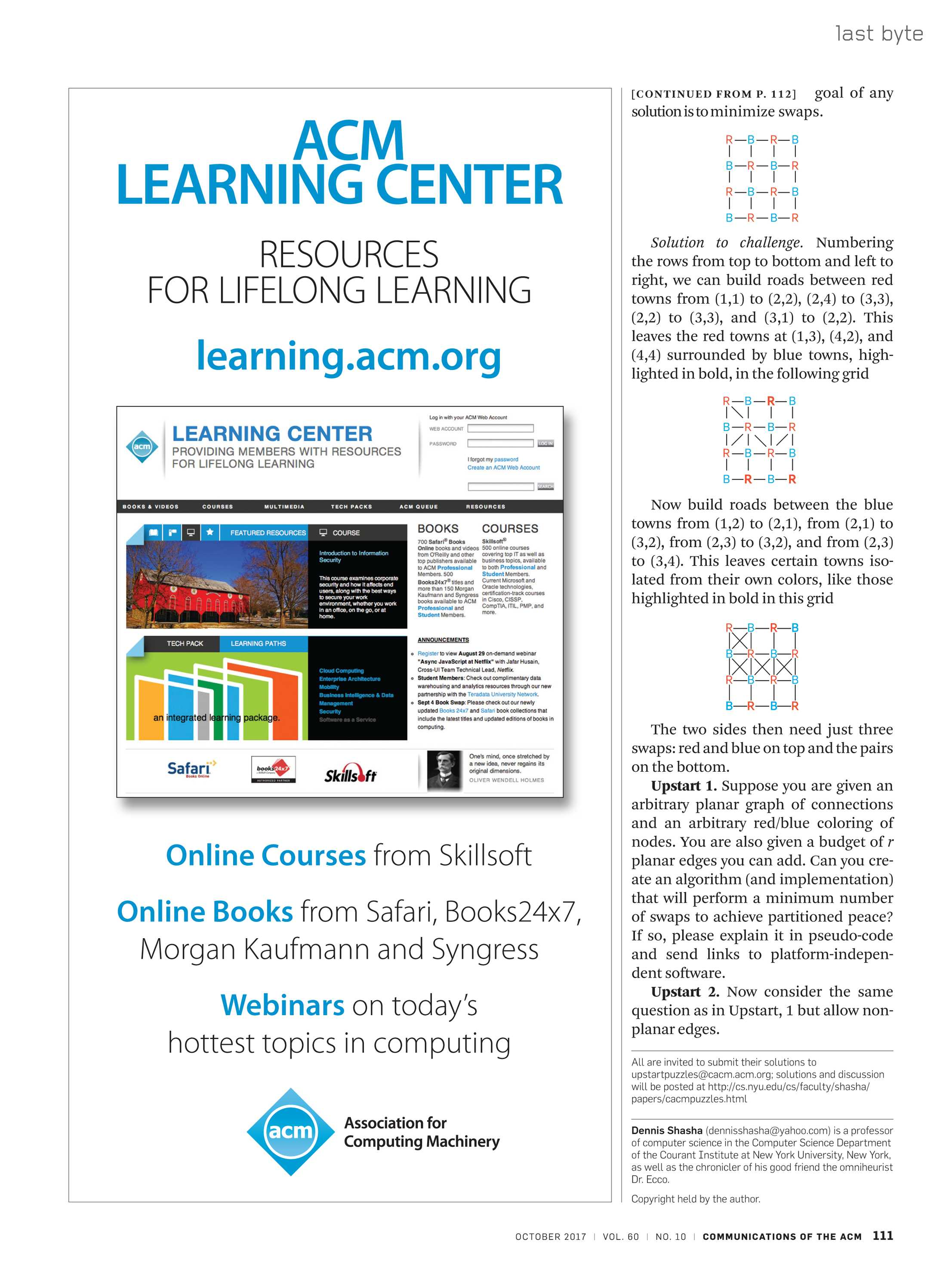 Communications of the ACM - October 2017 - page 111