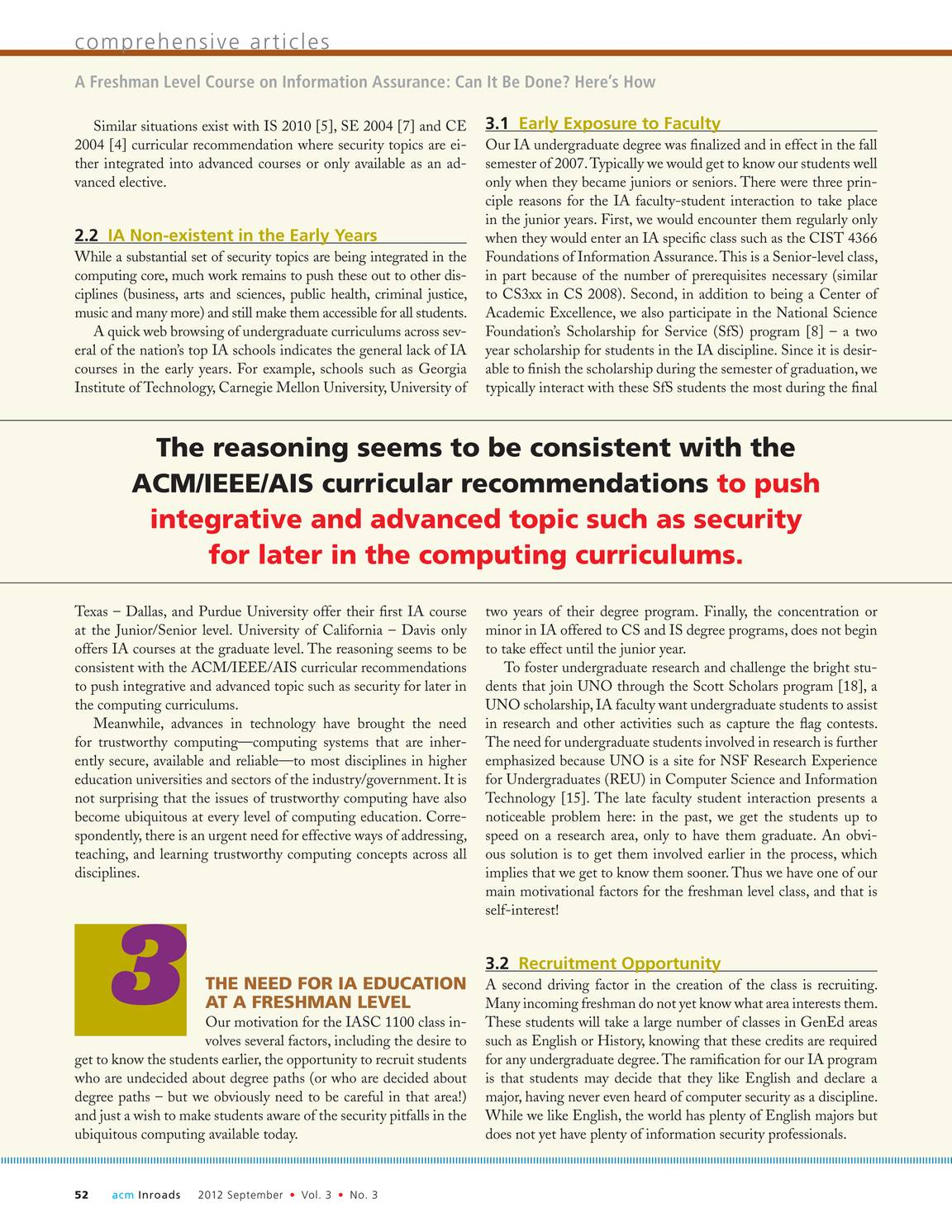 Inroads - September 2012 - page 53