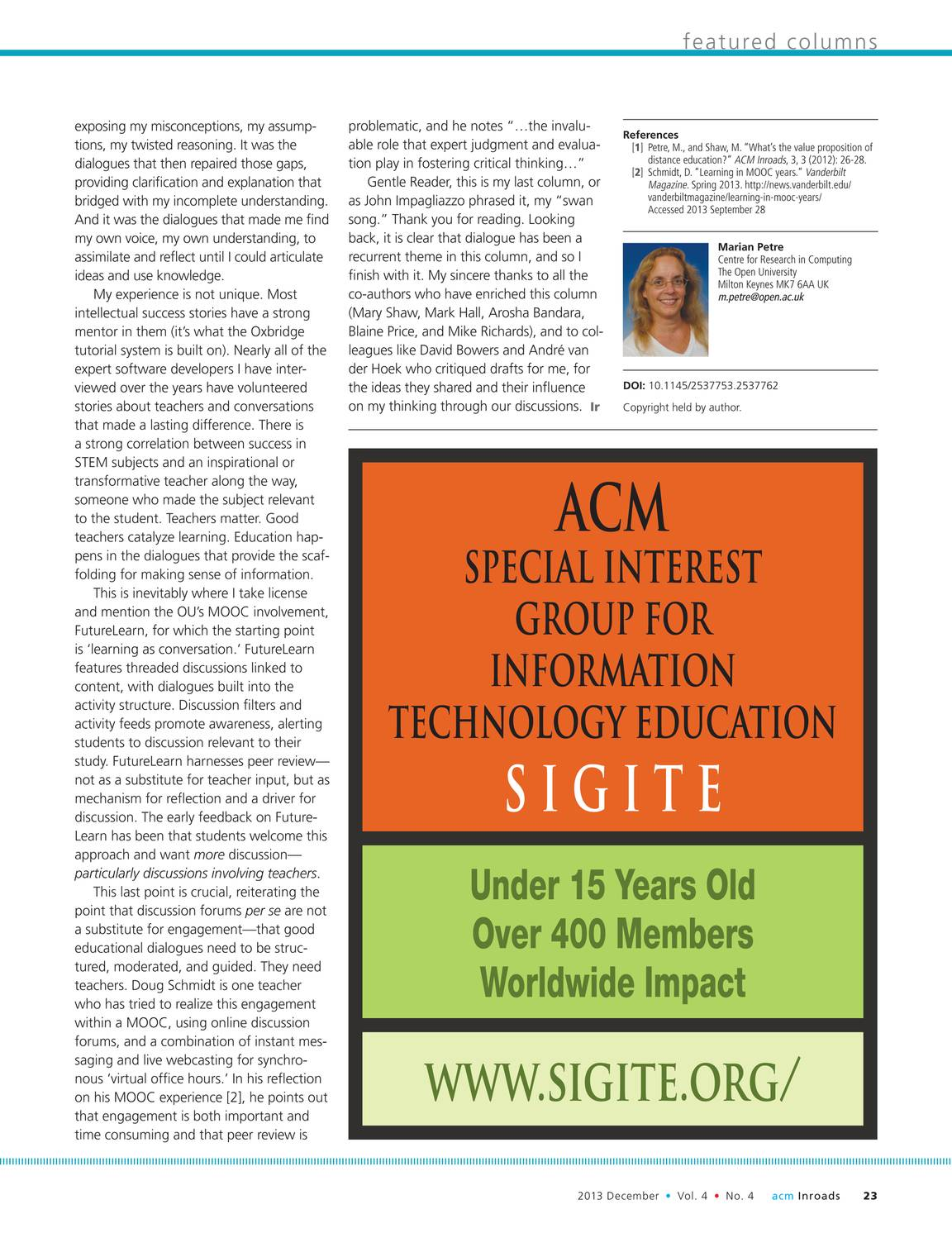 Inroads - December 2013 - page 24