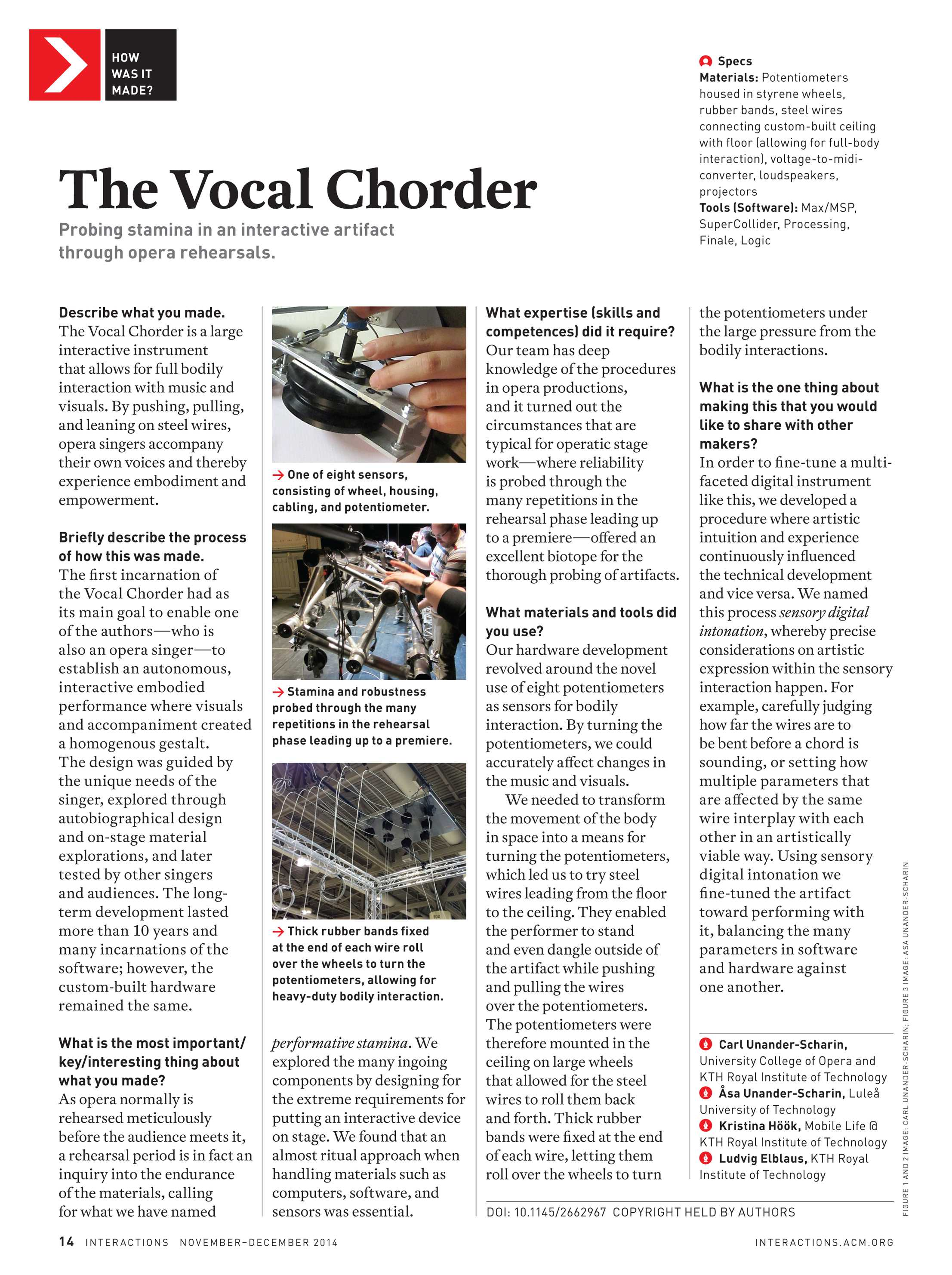Interactions November December 2014 Page 14 Wiring 2 Potentiometers In Series