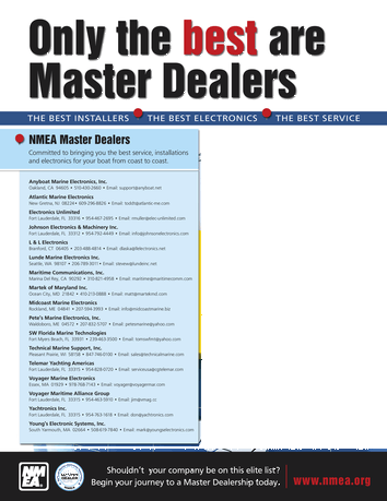 ME Marine Electronics - July/August 2018 Buyers' Guide