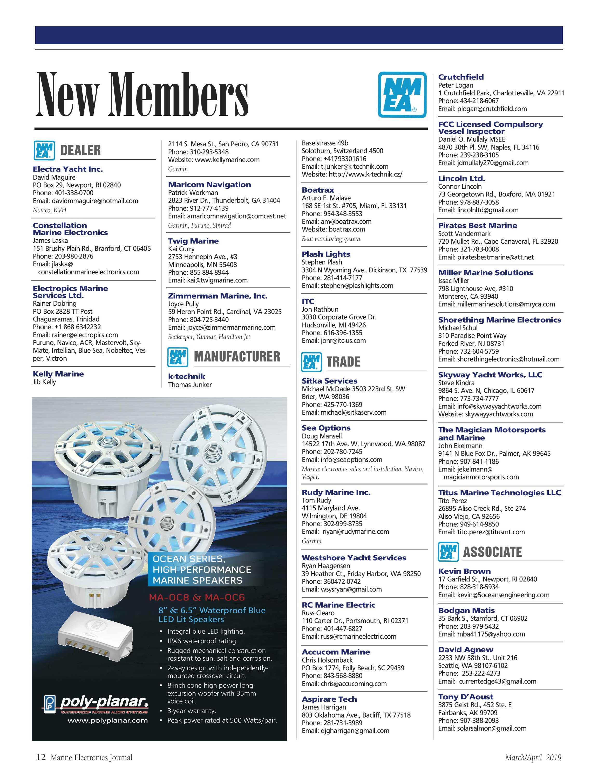 ME Marine Electronics - March/April 2019 - page 12