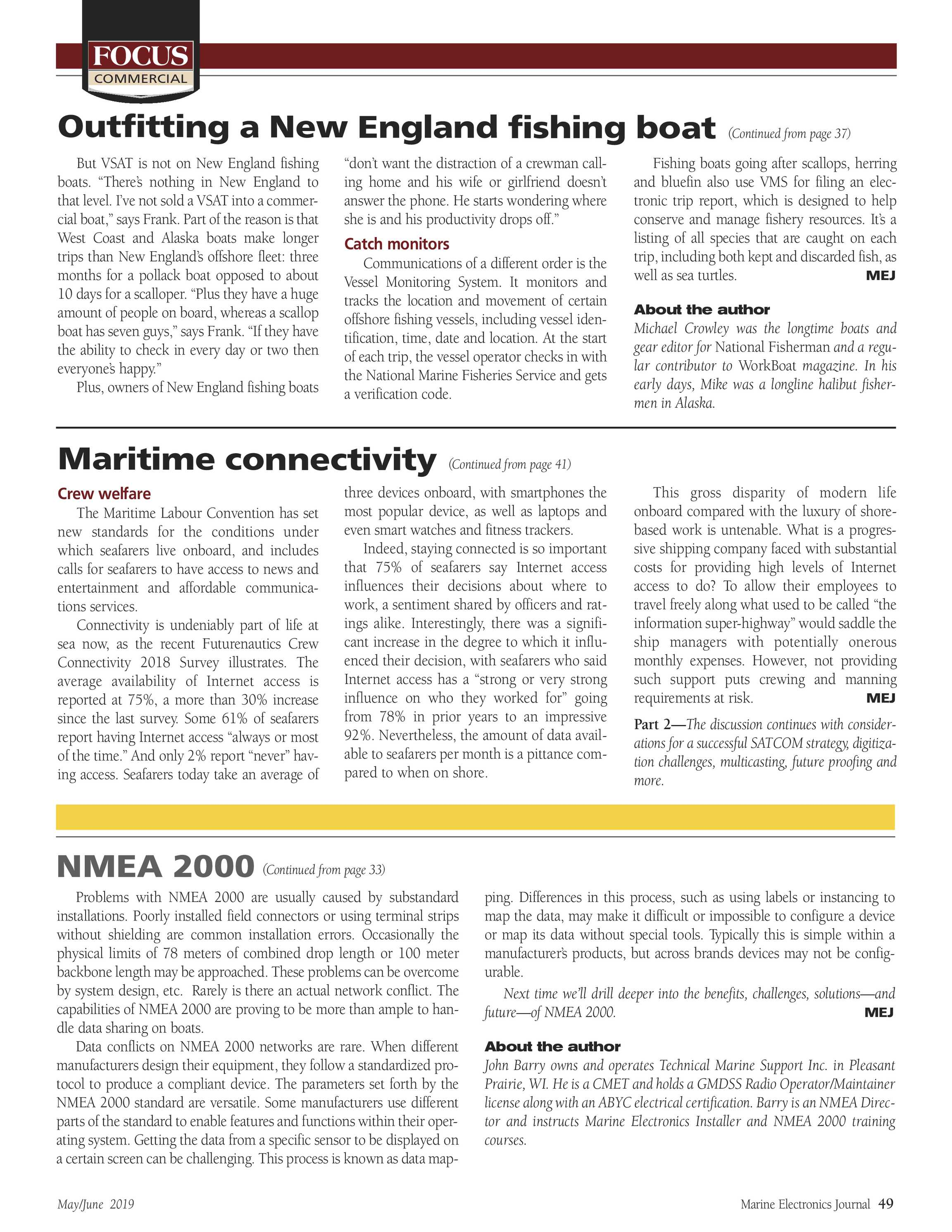 ME Marine Electronics - May/June 2019 - page 49